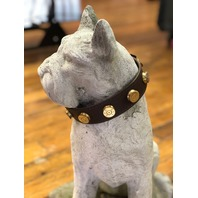 """JT's Bad Ass Leather 1.25"""" Dog Collar Once Fired BMG Military .50 Bullets"""