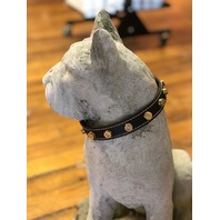 """JT's Bad Ass Leather 1"""" Dog Collar Once Fired Military 7.62 Bullets Black Brown"""