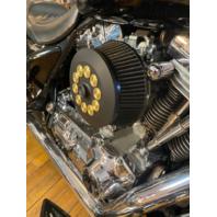 JT's Cycles Custom Air Cleaner Cover Powder Coat Black .50 Cal Bullets Harley