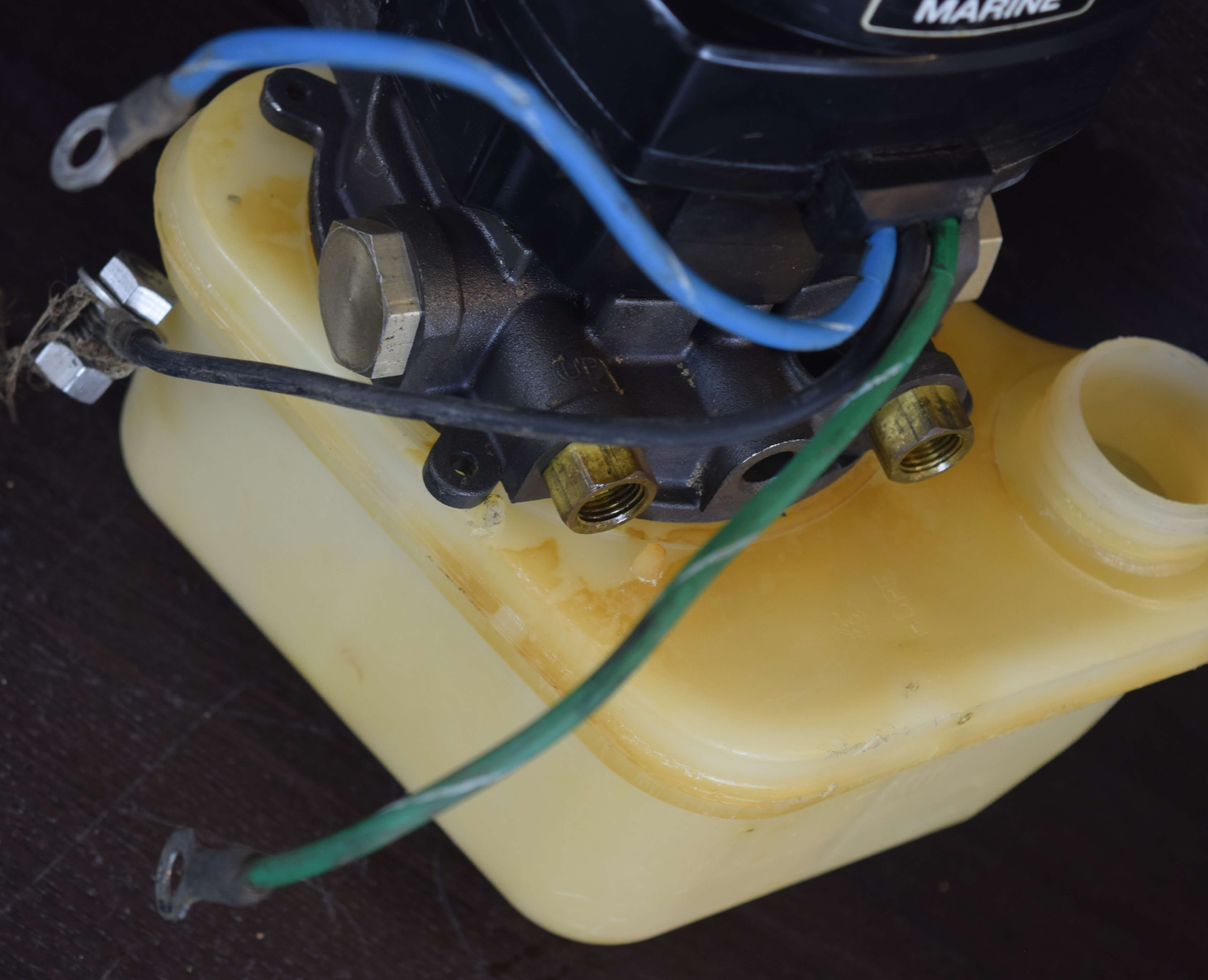 Mercury Mercruiser 2 Line Power Trim Pump & Motor TESTED!