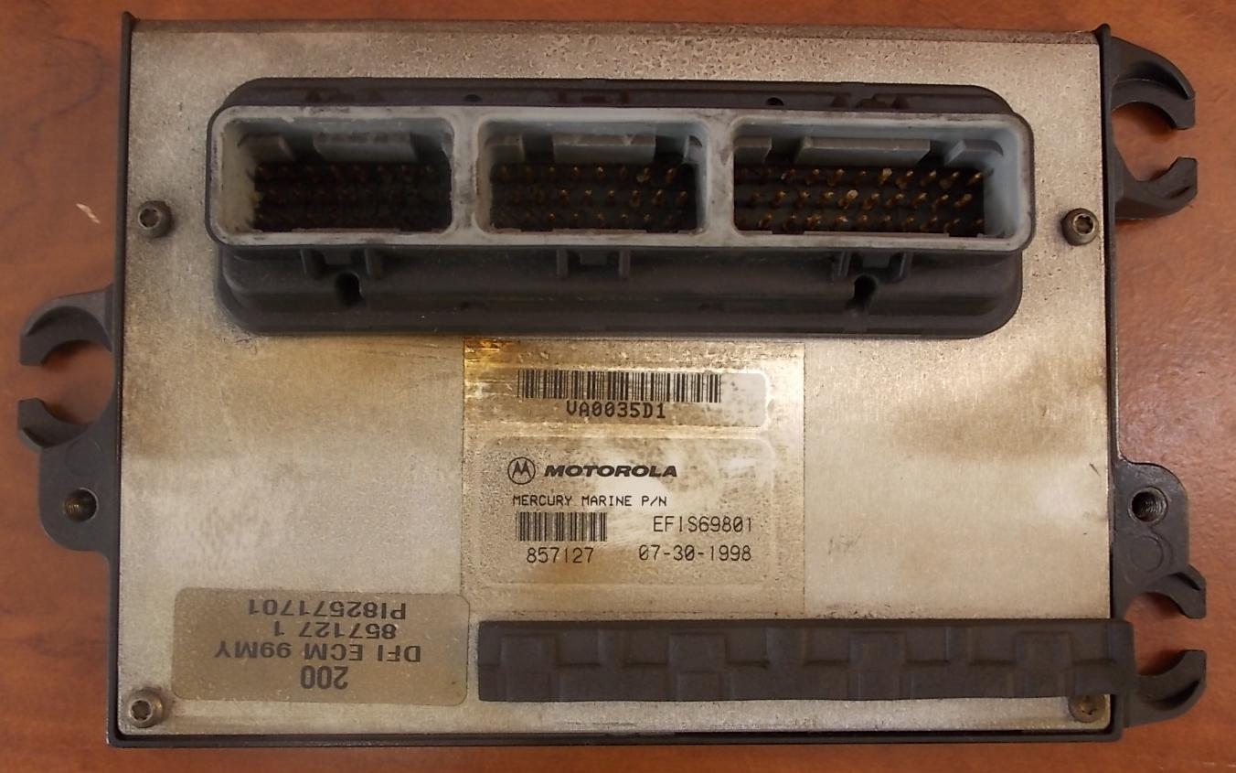 857127A12 Mercury 1999 Engine Control Unit ECU 200 HP 3 0L Optimax 1 YEAR  WTY
