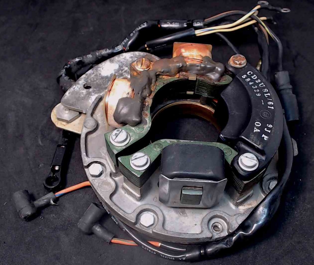 584341 583285 Johnson Evinrude 1991-92 Plate, Stator & Coil 35 45 HP 1 YEAR  WTY!