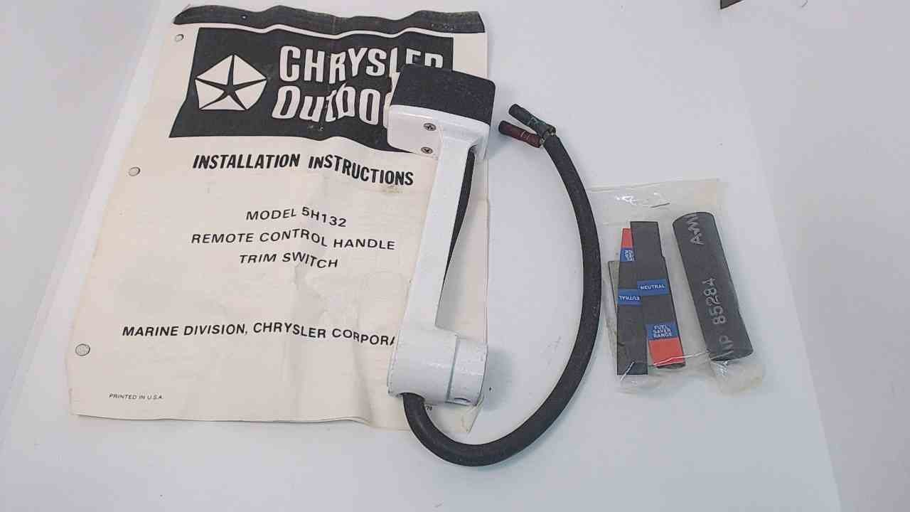 NEW! F5H132 Force Chrysler 1978-86 Side Mount Control Box Handle W/ Trim Switch