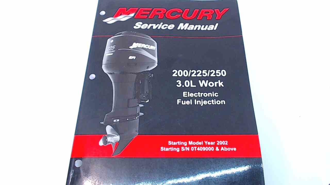 90-884294R01 Mercury Service Manual 200/225/250 HP 3 0L Work EFI
