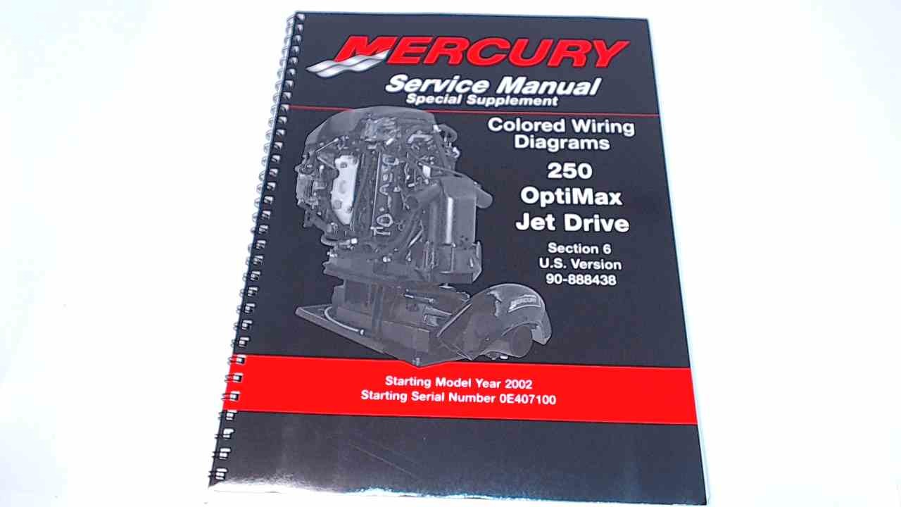 Section 6 Of 90-888438 Mercury Colored Wiring Diagrams 250 OptiMax on