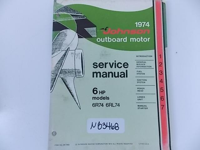 Johnson 6hp Service Manual