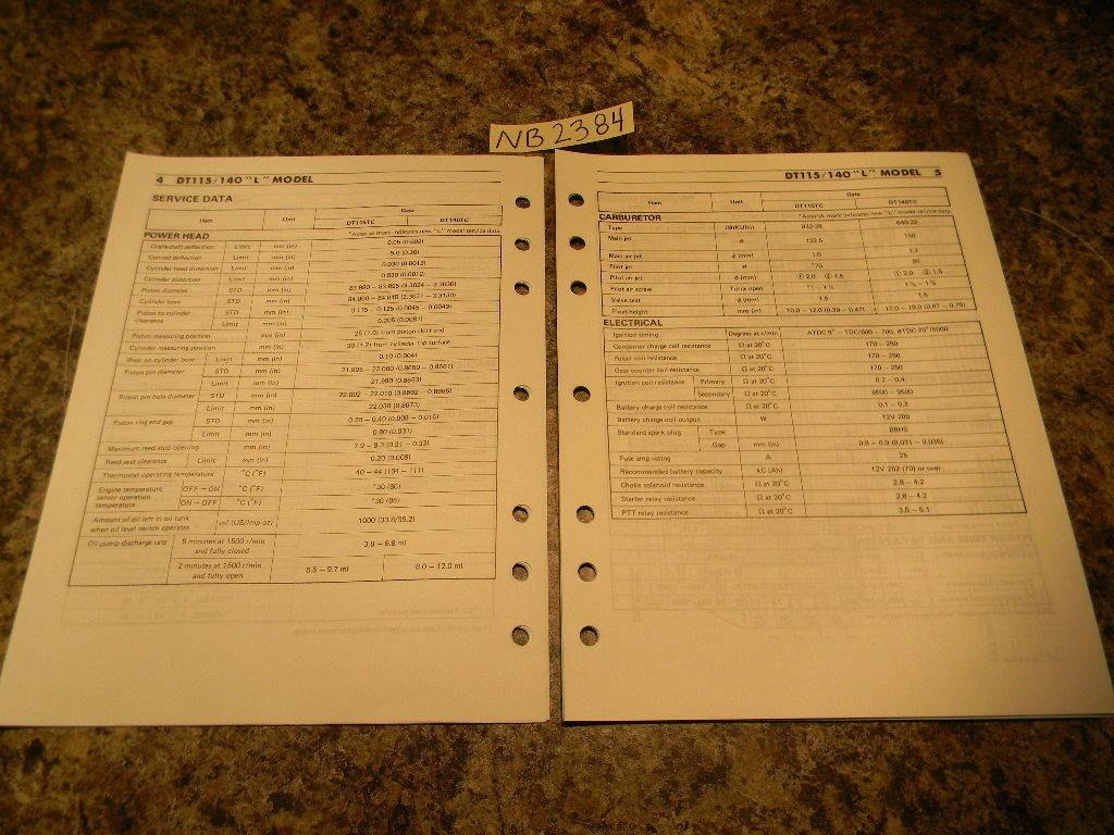 Suzuki Dt115 manual