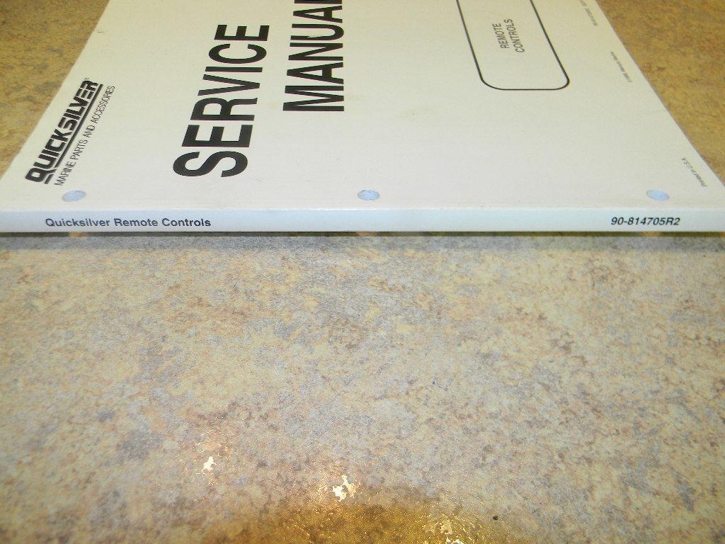 Quicksilver Service manual Remote control