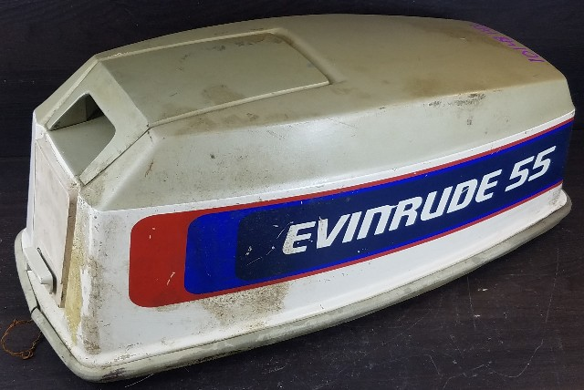 Johnson Evinrude Hood Top Cowl Engine Cover 55 HP