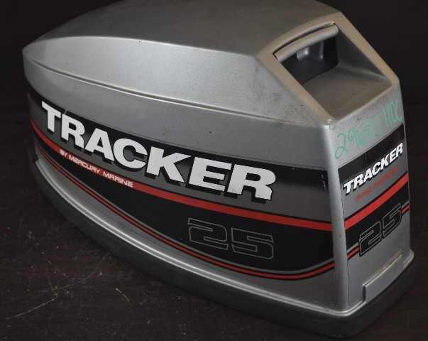 9163T19 Mercury 1988-06 Tracker Top Cowl Hood Engine Cover 15 20 25 HP 2  -Stroke