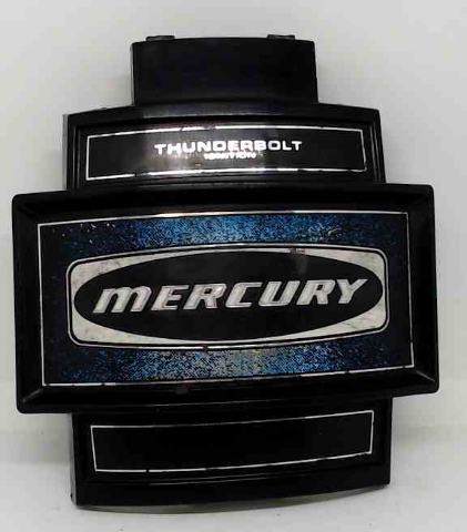 "Mercury Thunderbolt Front Cover Medallion 7-1/4"" L X 6-3/4"" W"