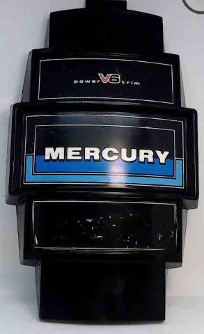 "Mercury Front Cover Medallion Power Trim V6 14-5/6"" L x 8-5/8"" W"