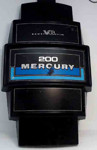 "Mercury Front Cowl Cover Medallion Power Trim V6 200 HP 14-1/2"" L x 8.75"" W"