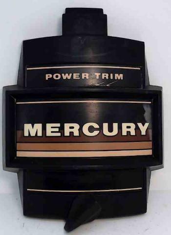 "Mercury Front Cover Medallion Power Trim W/ Latch 9-1/2"" L x 8"" W circa 1984-85"
