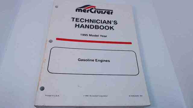 90-806535950 MerCruiser Technician's Handbook Model Year 1995 Gasoline Engines