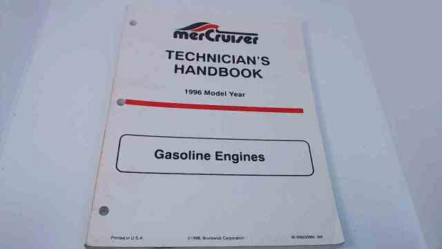90-806535960 MerCruiser Technician's Handbook Model Year 1996 Gasoline Engines