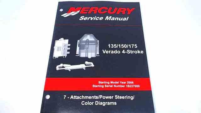 90-897928700 Mercury Service Manual 135/150/175 HP Verado 4 Stroke