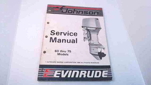 507617 Johnson Evinrude Service Manual Models 60 Thru 75