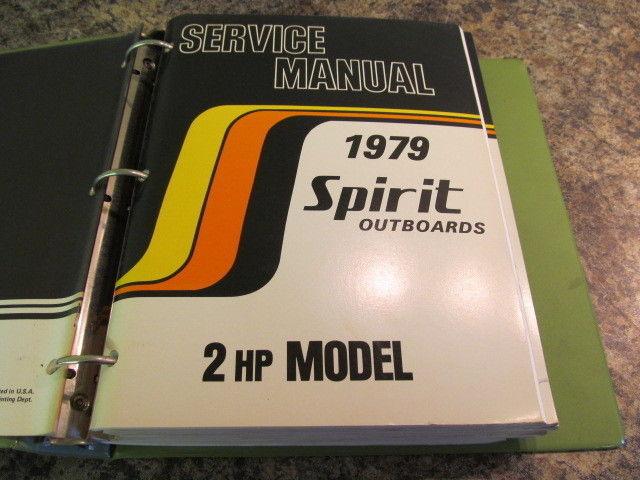 1979 suzuki spirit outboards service manual year set 2 85 hp models rh ebay com Small Outboard Motors White Suzuki Outboards