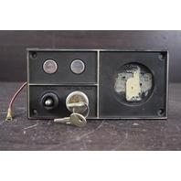 Older Style OMC Key Switch Plate W/ Switch Key & Electric Choke
