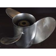 Unknown Brand RH Stainless Steel 3 Blade 14 1/4 x 18 Propeller 15 Splines