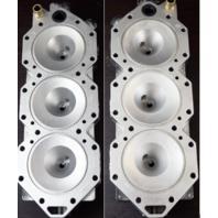 5006385 350948 2006 & UP Evinrude ETEC Cylinder Head Set 135 150 175 + REFURBED