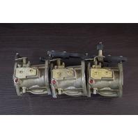 REBUILT! Mercury Carburetor Set WME-6 9012A24 9012A25 90125A26 75 HP 3 cylinder