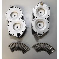 340950 Johnson Evinrude 1995-1998 Cylinder Head Set 90 HP ONLY V4 REFURBISHED