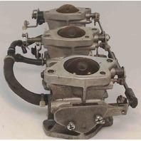 6H500-Casting Number Yamaha Carburetor Set of 3 50 HP - AS IS
