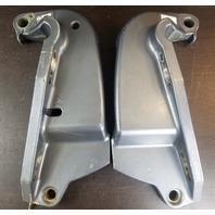 68V-43111-01-8D 68V-43112-01-8D Yamaha 2001 & UP Clamp Brackets 115 HP 4-Stroke