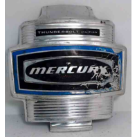 "Mercury Front Decal Medallion Aluminum Thunderbolt 7-5/8"" L x 7-7/8"" W"