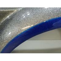 Outboard Marine Metallic Silver Blue Fiberglass Boat Trailer Fender NEW TAKE OFF