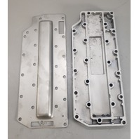 803932T 8192831 F692152 Force 1991-1999 Exhaust Plate & Cover 70 75 90 HP 3 Cyl