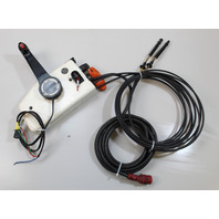 Johnson Evinrude OMC Side Mount Control Box W/ Cables & 17' Harness 10 Hole Plug