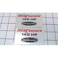 Set of 2 MerCruiser 140 HP Decal