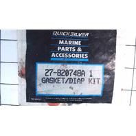 NEW! Mercury Quicksilver Gasket & Diaphragm Kit 27-820748A1