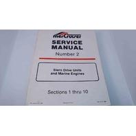 90-71707 MerCruiser Service Manual #2 Stern Drive Units & Marine Engines