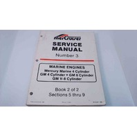 90-95693 MerCruiser Service Manual #3 Book 2 of 2 Marine Engines 4,6,V-8 Cylinder
