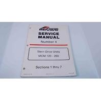 90-86137 MerCruiser Service Manual #4 Stern Drive Units MCM 120-260