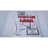90-816981970 Mercury Mariner 1997 Technician's Handbook Vol. 1 2.5 thru 60