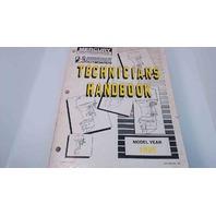 90-816981950 Mercury Mariner Technician's Handbook Model Year 1995
