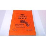 C-90-68648 Mercury Service Manual MerCruiser Stern Drive Units Vol 1