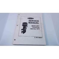 C-90-68647 Mercury Outboards Service Manual 1966 Thru 1974