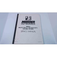 90-14679 Mariner Outboards Service Manual Models 8B/W8/Marathon 8/9.9C/15C