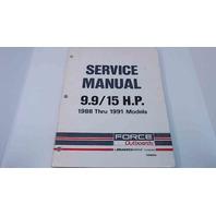 Force Service Manual 9.9-15 HP 1988 thru 1991 Models