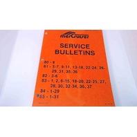 90-12655 Mercury MerCuriser Service Bulletins 1980-1985