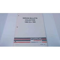 90-825408-1 Force Outboards Service Bulletins Collection 1990 thru 1994
