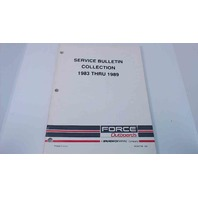 90-823798 Force Outboards Service Bulletins Collection 1983 thru 1989