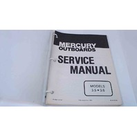 90-43183 Mercury Outboards Service Manual Models 3.5/3.6