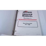 90-12935 MerCruiser Service Manual #5 Stern Drive Units TR/TRS